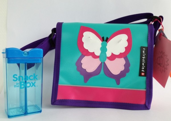 Kindertasche Schmetterling + 1 Snackbox