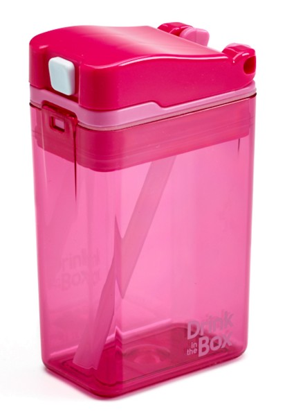 Kindertrinkflasche Drink in the Box 0.24L pink