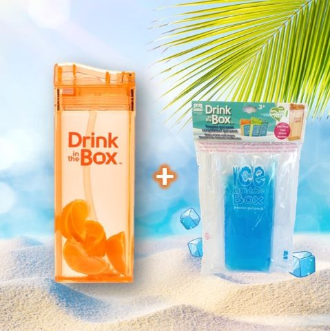 2er Set Drink in the Box 0.35L und Ice on the Box orange